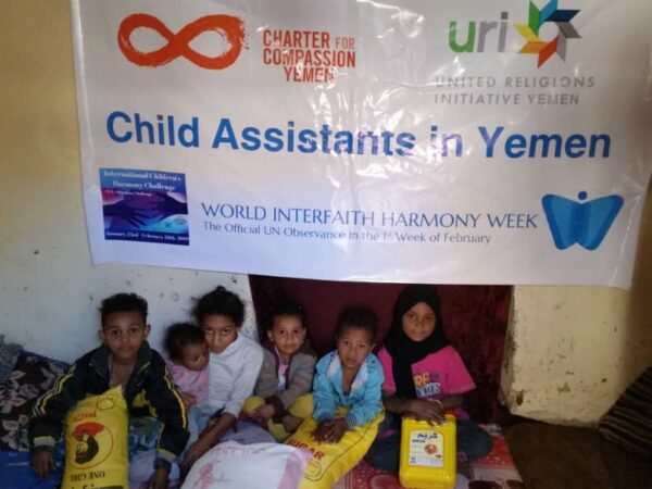 Charter for Compassion CC-Yemen honors the World Interfaith Harmony Week by helping families in need in Yemen