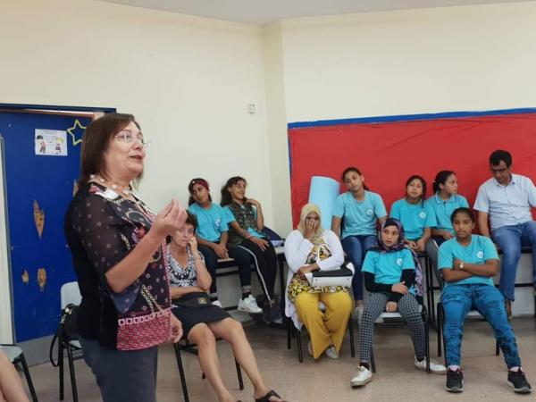 TRUST WIN CC visit to Jisr a Zarka school in preparation for the IDP